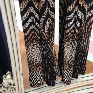 cameo Pants - Animal print wide leg jumpsuit